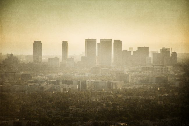 Rusty Los Angeles under smog